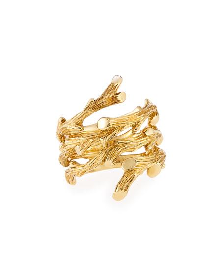Michael Aram 18k Gold Twig Spiral Ring, Size