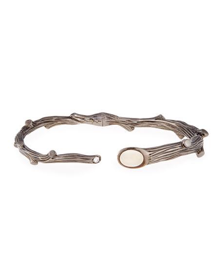 Twig Bracelet with Diamond and Moonstone