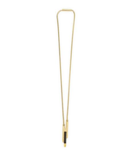 Empire Black Horn Pendant Necklace