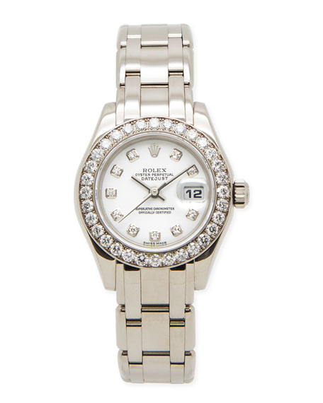 NM Watch Collection by Crown & Caliber Classic Rolex Ladies' Pearlmaster ...