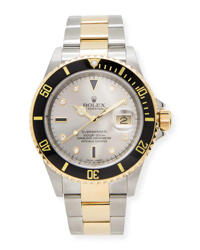 Classic Rolex Men's Submariner Serti Dial Watch