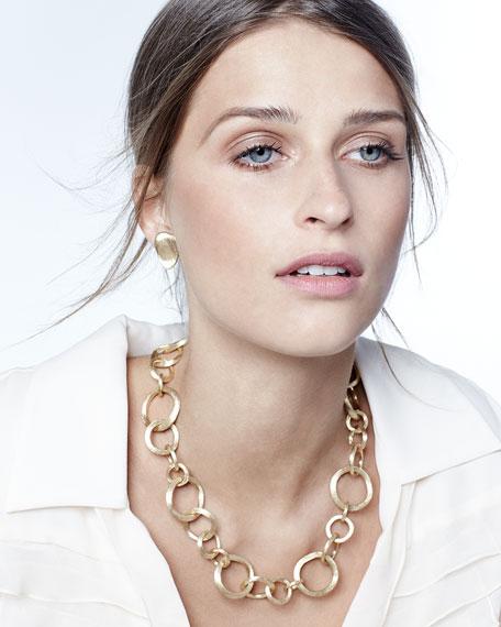 """Jaipur 18k Gold Link Necklace, 19""""L"""