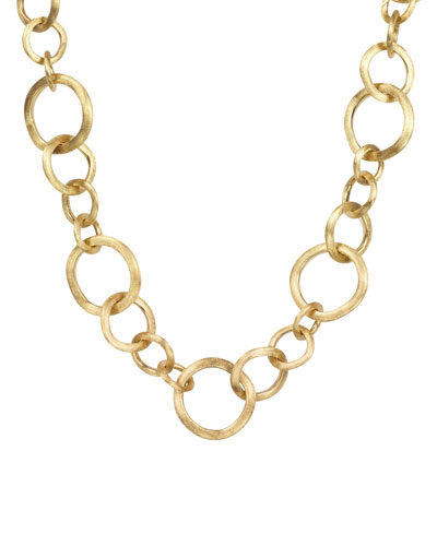 Jaipur 18k Gold Link Necklace, 19