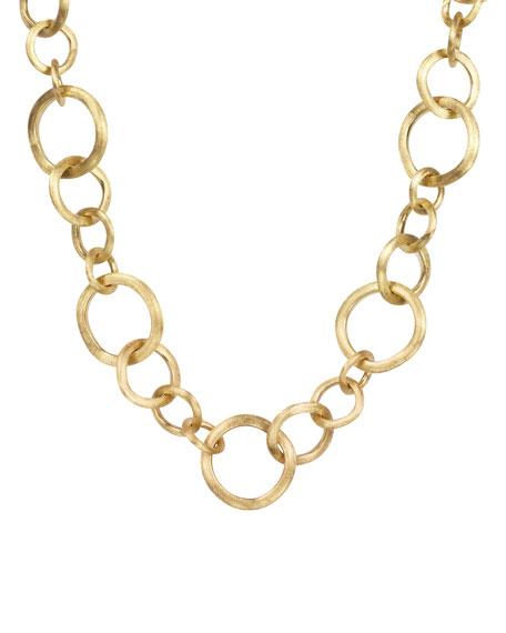 Jaipur 18k Gold Link Necklace, 19