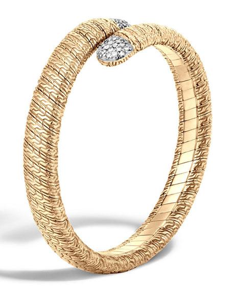 John Hardy Classic Chain 18k Single Coil Diamond