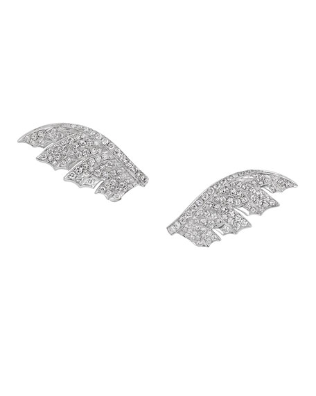 Magnipheasant Pave Diamond Wing Earrings