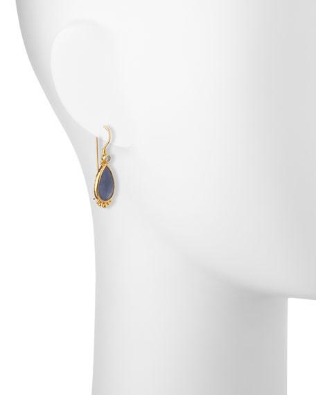 Elements 24k Constantine Sapphire Teardrop Earrings