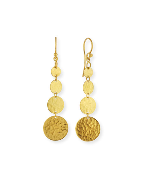 Gurhan Lush 24k Gold Graduated Dangle Earrings