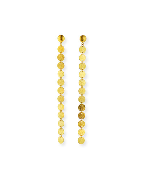 Gurhan Lush 24k Gold Single Drop Earrings