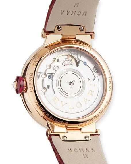 33mm LVCEA 18K Pink Gold Watch