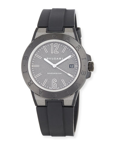 41mm Diagono Magnesium Watch, Gray