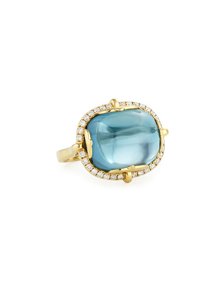 Goshwara Rock-N-Roll 18K Yellow Gold London Blue Topaz