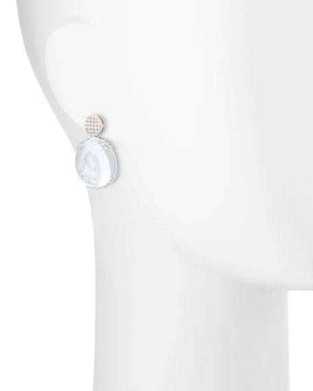 Rock-N-Roll Pavé Diamond & Moon Quartz Earrings