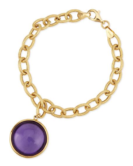 Goshwara Mischief 18K Gold Amethyst Chain Link Bracelet