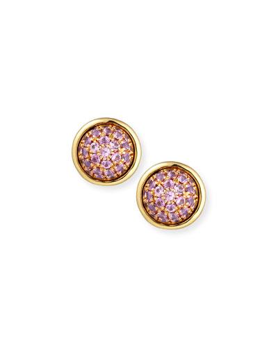 Pink Sapphire Bauble Earrings