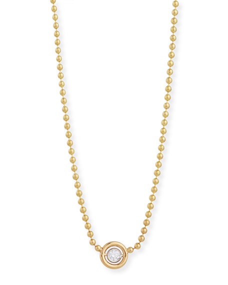 Diamond Bezel Pendant Necklace