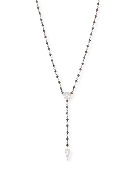 Twilight Black & White Diamond Y Necklace