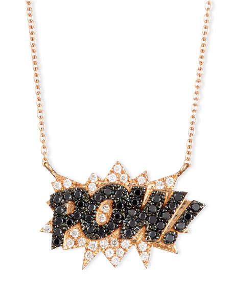 Diane Kordas 18K Rose-Gold Pow! Pop Art Pendant