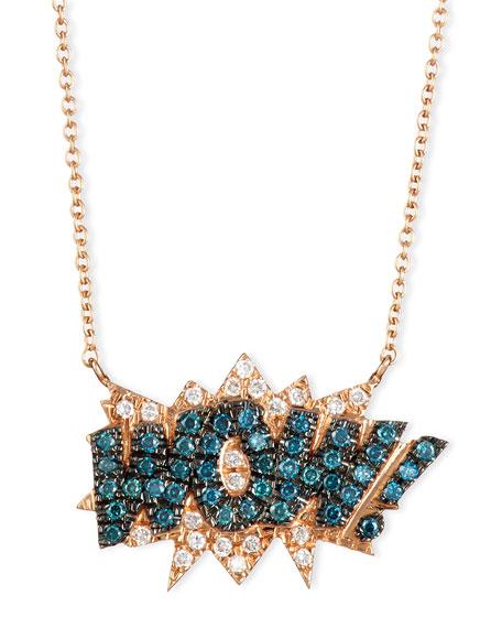 18K Rose-Gold Wow! Pop Art Pendant Necklace