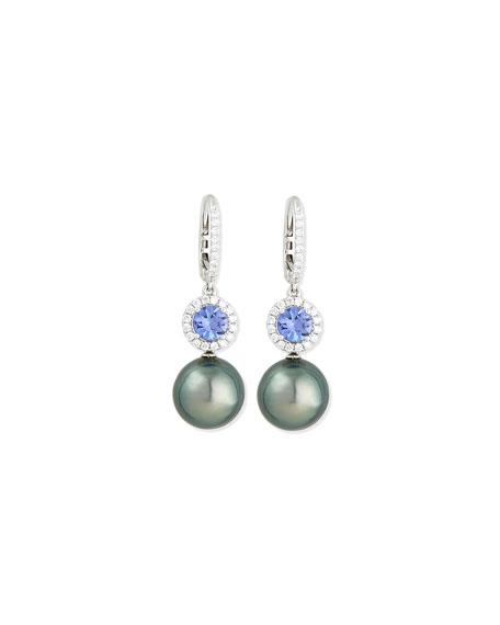 Eli Jewels Dangling South Sea Pearl & Blue