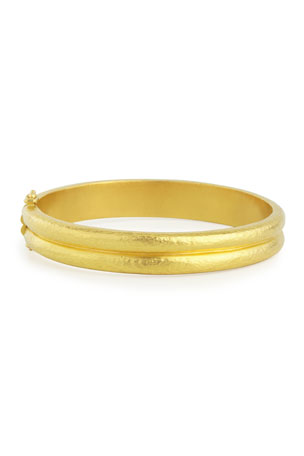 Elizabeth Locke 19K Gold Double-Band Bangle Bracelet