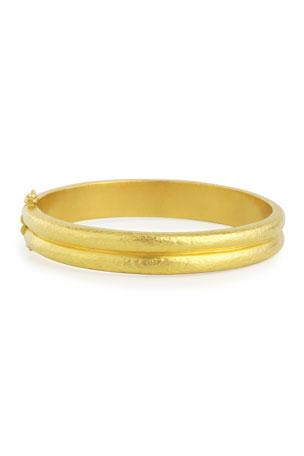 Elizabeth Locke 19K Gold Double-Band Bangle Bracelet