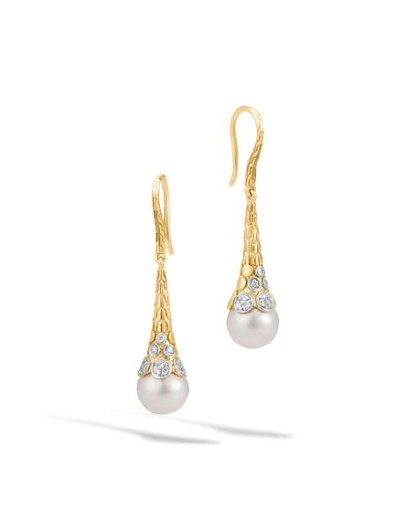 John Hardy Dot 18K Gold Diamond & Pearl