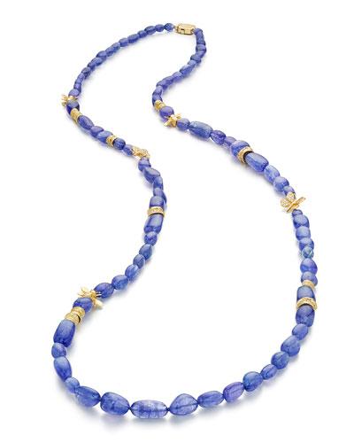 Wonderland Tanzanite Beaded Necklace, 36