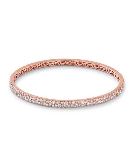 Ippolita 18K Rose Gold Pavé Diamond Bangle
