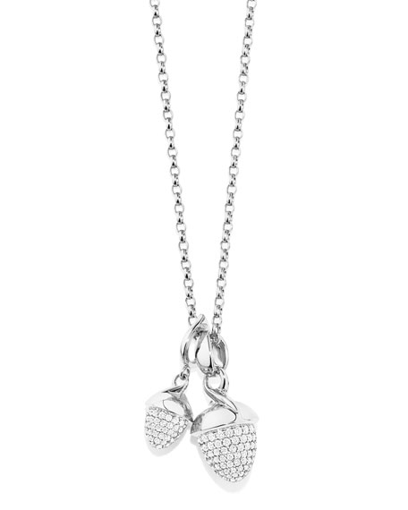 Mikado Bouquet 18K White Gold Pave Diamond Pendant