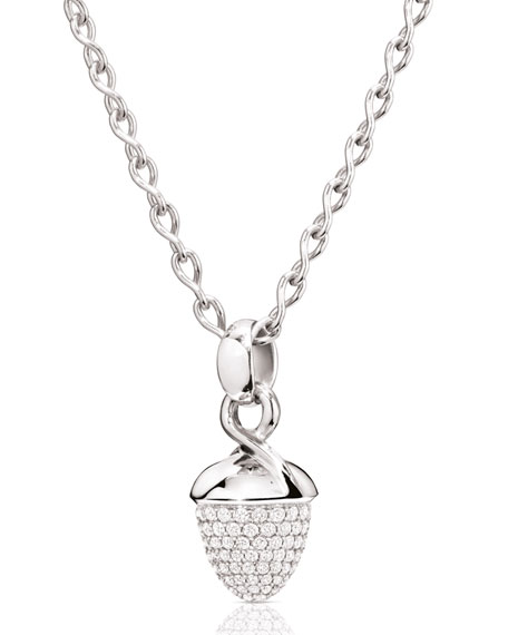 Mikado Bouquet 18K White Gold Pavé Diamond Pendant