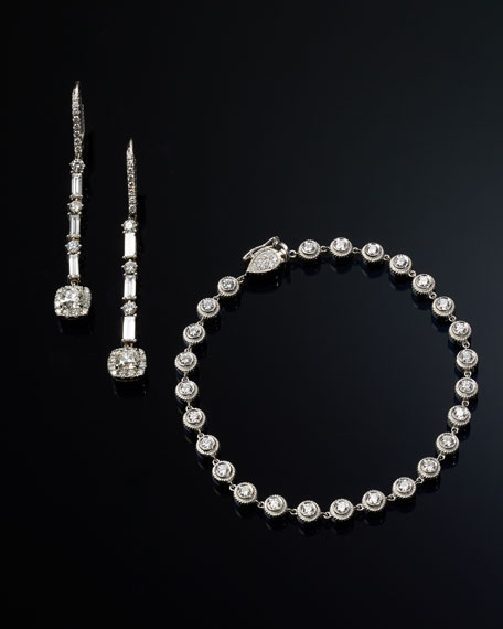 18K White Gold Round Diamond Bracelet