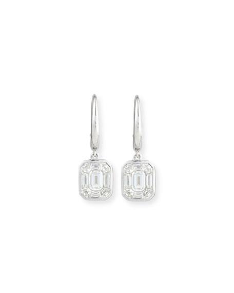 Rahaminov 18K White Gold Diamond Kaleidoscope Earrings