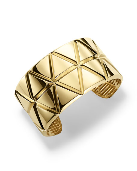 Marina B 18K Yellow Gold Triangoli Cuff Bracelet