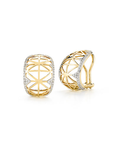 Liberté Diamond Huggie Hoop Earrings
