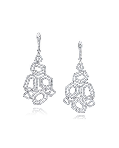Montmartre Diamond Cluster Drop Earrings
