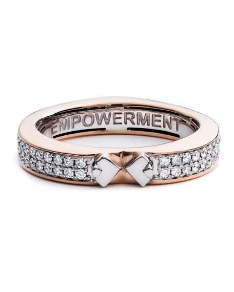 #She'sBrilliant Empowerment 18K Rose Gold Diamond Ring, Size 7