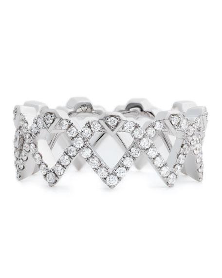 #She'sBrilliant Diamond Empowerment Crown Ring