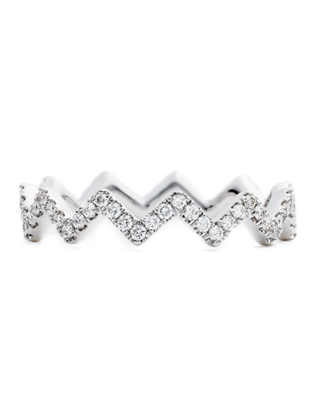 #She'sBrilliant Zigzag Diamond Stacking Ring
