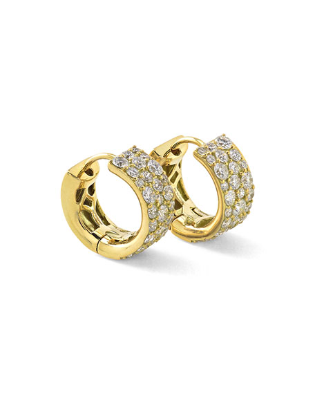 18K Glamazon Stardust Small Diamond Hoop Earrings