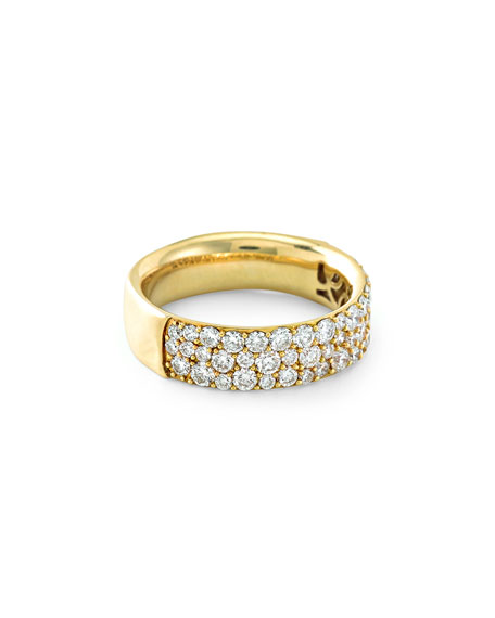 18K Glamazon Stardust Pavé Diamond Ring, Size 7