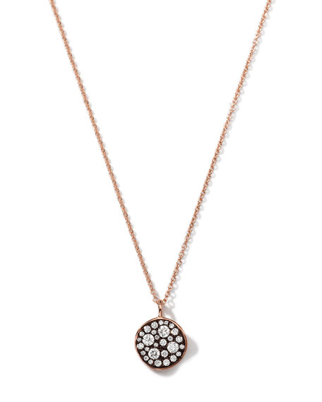 Marco Dal Maso Ara Burnished Silver Pendant Necklace with 18K Rose Gold & Champagne Diamond k9Oujc9pA