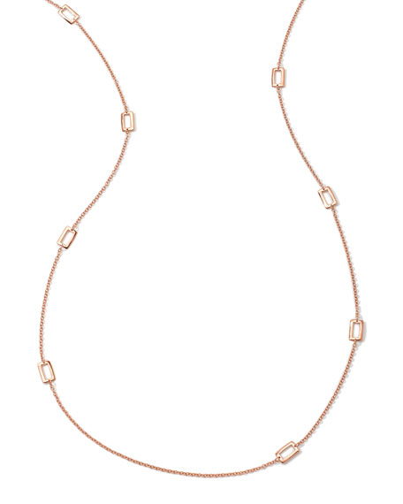 Ippolita 18K Rose Gold Glamazon Windowpane Necklace, 40