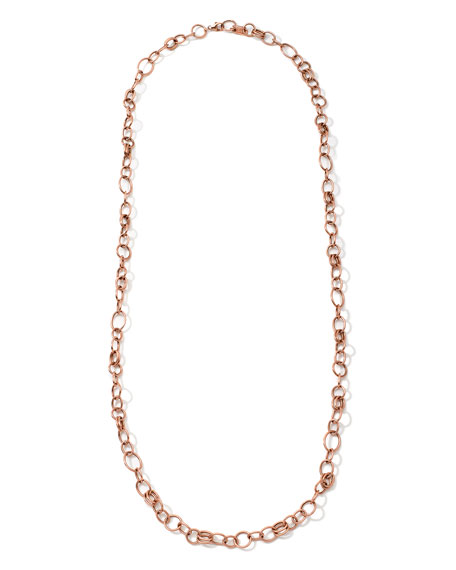 """18K Rose Gold Glamazon Classic Link Chain Necklace, 33"""""""