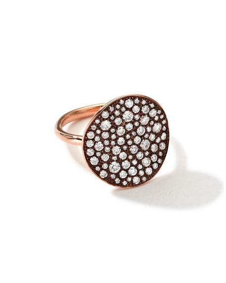 18K Rose Gold Glamazon Stardust Flower Ring with Diamonds (1.8 ct)