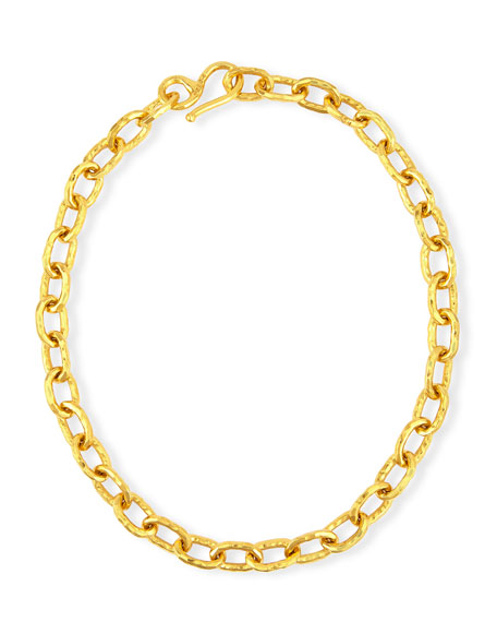 Cadene 25 22K Yellow Gold Link Necklace, 17