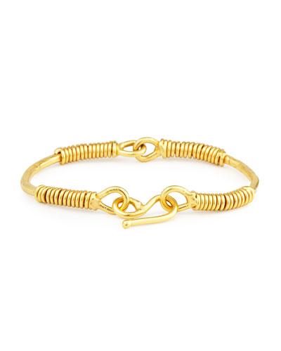 Spiraled 22K Yellow Gold Bracelet