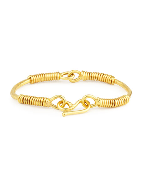 Spiraled 22K Yellow Gold Bracelet