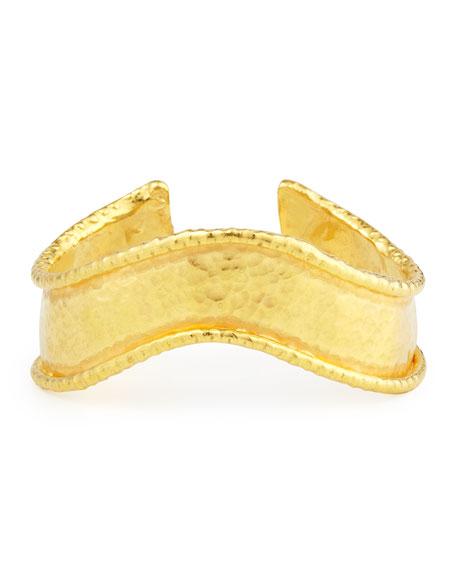 22k Yellow Gold Wavy Cuff Bracelet