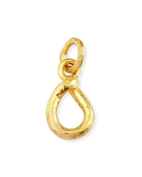 22K Yellow Gold Open-Pear Pendant